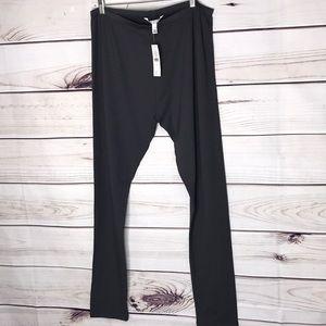 Long Tall Sally Grey Fleece Lined Leggings NWT